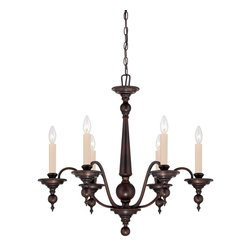 Savoy House - Sutton Place 6-Light Chandelier - Sutton place has the look of traditional fixtures with a little modern flair. The English bronze finish and classic design make this group flawless.