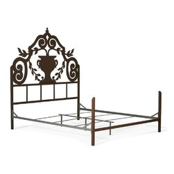 Corsican - Custom Urn Bed in Cafe Finish, Queen - Corsican has been in business over 40 years. Their entire focus is making wrought iron furniture. Many of their skilled craftsman are second generation.