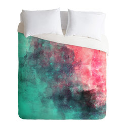 DENY Designs - DENY Designs Allyson Johnson Cotton Candy Duvet Cover - Lightweight - Turn your basic, boring down comforter into the super stylish focal point of your bedroom. Our Lightweight Duvet is made from an ultra soft, lightweight woven polyester, ivory-colored top with a 100% polyester, ivory-colored bottom. They include a hidden zipper with interior corner ties to secure your comforter. It is comfy, fade-resistant, machine washable and custom printed for each and every customer. If you're looking for a heavier duvet option, be sure to check out our Luxe Duvets!