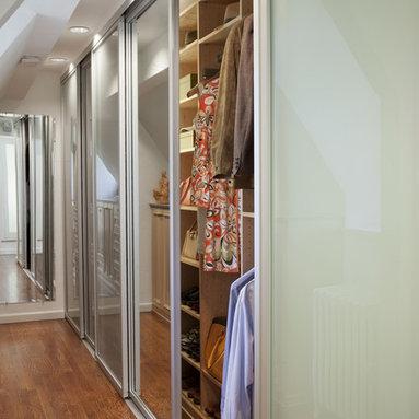 transFORM - Tall Sliding Closet Doors with Mirrored Glass - Mirrored glass tall sliding closet doors.
