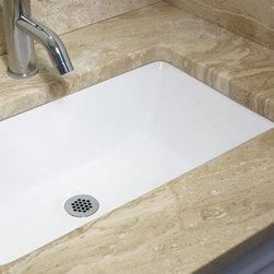 Highpoint Collection White 19x11-inch Undermount Ceramic Vanity Sink -