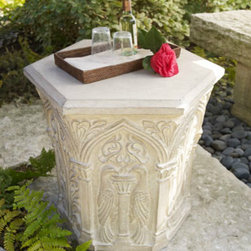 """Hexagonal Side Table - """"Bring the outdoors in"""" is what I always say. If you love this outdoor hexagonal table that much, don't be afraid to bring it inside for a charming piece of furniture."""