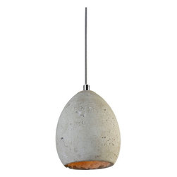 Light & Living - Munich Hanging Lamp - Munich Hanging Lamp features a round frame made of concrete and is available in a grey finish. One 25 watt, 120 volt A19 medium base incandescent bulb is required, but not included. Dimensions: 6.1 inch width x 8.5 inch height.�� Cord length of 12 feet 6 inches.