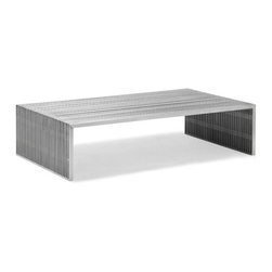 Zuo Modern - Novel Long Coffee Table Stainless Steel - Bring home our functional and modern stainless steel coffee table. It adds style with a contemporary twist to your home decor.
