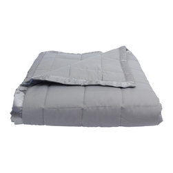 Luxor Linens - Arosa Hotel Collection Down Alternative Comforter, Grey, Twin - 100% Polyester