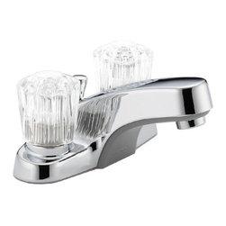 DELTA FAUCET - P245LF Chrome 2H Lavatory Faucet - Two-Handle Lavatory Faucet W/POP-UP