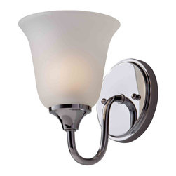 Feiss VS30001-CH Jela Chrome Wall Sconce - Feiss VS30001-CH Jela Chrome Wall Sconce*Number of Bulbs: 1*Bulb Type: 100 Watt Edison*Collection: Jela*Glass/Shade: Clear*Weight: 1.8*Safety Rating: cUL Damp