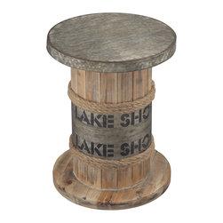 Sterling Industries - Lake Shore Lake Shore Stool - Lake Shore-Lake Shore Stool by Sterling Industries