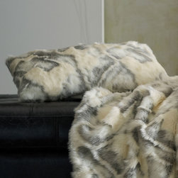 """Peacock Alley - Peacock Alley Fabiana Decorative Pillow - Peacock Alley's luxurious collection of bedding and bath accessories captures the essence of classic style. Soft and indulgent, the Fabiana pillow lends rich texture to a sofa or bed. Featuring a suede back, this alluring faux fur accessory delights with an elegant blend of pearl and gray hues. Available in square and oblong sizes. Made from 100% acrylic. Made in the USA. Professional cleaning recommended. Feather and down form insert included. Square: 20""""W x 20""""H. Oblong: 24""""W x 12""""H ."""