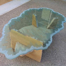 Table Tops And Bases by Sans Soucie Art Glass