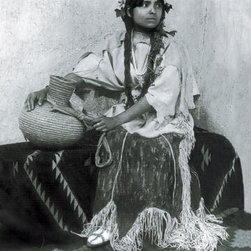 Buyenlarge - Taos Woman Seated With Water Jug 20x30 poster - Series: Native American