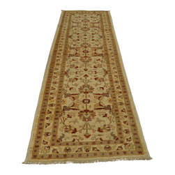 3'x11' Runner Peshawar Hand Knotted 100 Percent Wool Oriental Rug Sh18753 - Oushak stands for the western Anatolian Turkish city, known for its rare collectible rugs made during the Ottoman Empire. Today we are recreating these historical carpets, in the centuries-old hand weaving techniques, the same fantastic designs in a variety of colors to fit today's decor and taste using natural dyes and hand spun wool. Ziegler stands for Ziegler and company, German based oriental rug importer which operated between 1880-1920. They originally produced and imported these precious carpets in the Mahal region in Iran, specifing to the locals the German and European taste.