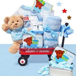 Cashmere Bunny Personalized It's A Boy Wagon