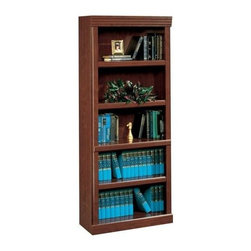 Sauder - Heritage Hill 5 Shelf Bookcase in Classic Che - 3 Adjustable shelves. Enclosed back with cord access. Made of engineered wood. Assembly required. 30 in. W x 13 in. D x 71 in. H
