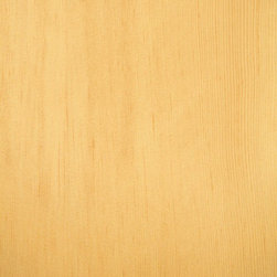 Vertical Grain Douglas Fir Veneer - Douglas Fir veneer is golden to slightly yellowish brown in color. It is almost exclusively quarter cut (rift cut) to produce a tight vertical grain appearance with a mild pinstripe contrast. Available in a variety of backers and sizes.