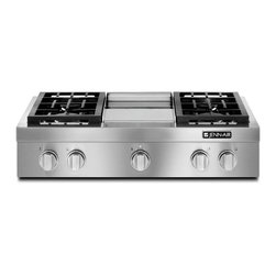 """Jenn-Air 36"""" Pro-style Gas Rangetop With Griddle, Stainless Steel 