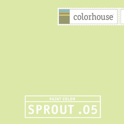 Colorhouse SPROUT .05 - Colorhouse SPROUT .05: A fresh spring bud. A playful, healthy hue.  Colorhouse interior paints contain no VOCs, no toxic fumes/HAPs-free, no reproductive toxins and no chemical solvents.