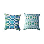 Kaypee Soh - Honeycomb Pillow - Emerald - Honeycomb - Add a splash of this pattern for a large-scale infusion of color and pattern. An architectural inspired design that pairs perfectly with our Pineapple and Palm patterns.