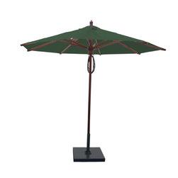 Greencorner - 9' Octagon Mahogany Umbrella, Forest Green - 9' Octagon