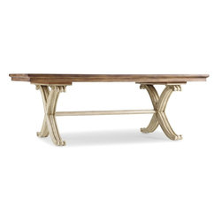 """Hooker Furniture - Hooker Furniture Sanctuary Rectangle Dining Table-Dune/Amber Sands - Pursue serenity at home. Create your own personal sanctuary, a special place where you can experience comfort within. Poplar Solids with Primavera and Maple Veneers with Resin. Dimensions: 82""""W x 42""""D x 30""""H."""