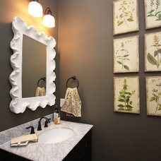 Transitional Powder Room by Everything Home