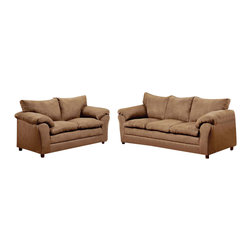 Chelsea Home Furniture - Chelsea Home Gail 2-Piece Living Room Set in Victory Lane Taupe - Gail 2-Piece living room set in Victory Lane Taupe belongs to the Chelsea Home Furniture collection