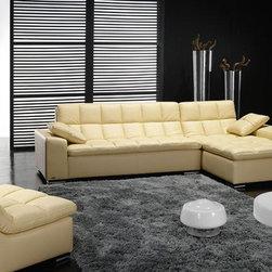 High-class All Italian Leather Sectional Sofa - Italian leather upholstery