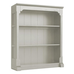 EuroLux Home - New Bookcase White/Cream Painted Hardwood - Product Details