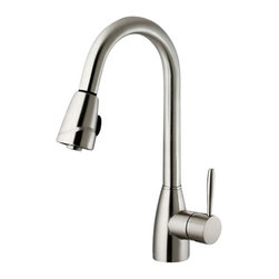 Vigo - VIGO VG02014ST Pull-Out Spray Kitchen Faucet - Show your kitchen off by updating the look of it with this stylish, durable Faucet features a dual function pullout spray head for aerated flow or powerful spray