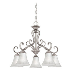 Quoizel Lighting - Quoizel Dh5105 Transitional 5 Light Dinette Chandelier - Antique Bronze - About Quoizel: Founded in 1930 in New York, Quoizel is dedicated to integrity and quality in both it's products and the way it does business.