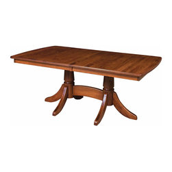 Baytown Double Pedestal Table - Amish Direct Furniture offers Nationwide Shipping at the Best Prices. Furniture can be Customized by Wood, Stain Color, and Other Styles. See Our Entire Variety of Custom-Made Furniture on Our Site!