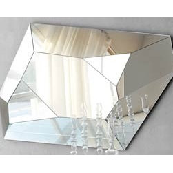 Diamond Wall Mirror By Cattelan Italia - Diamond Wall Mirror with the whole frame in mirrored glass. This simple yet captivating design concentrates on plain beauty and contemporary style. A very spacious and elegant-looking contemporary mirror. That`s Diamond Wall Mirror. The Diamond Wall Mirror design exclusively focuses on ample amount of glass area for optimum utility. As a durable mirror the Diamond Wall Mirror is appreciable for its simple yet elegant design and for its unique compatibility element. This is a simple mirror which will fit into any room without much fuss.