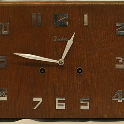 EuroLux Home - Consigned Vintage German Art Deco Mantel Clock - Product Details