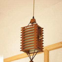 Modern Wood Shade Pendant lighting -