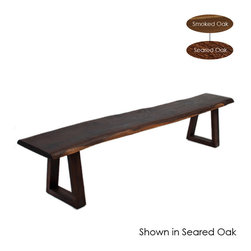 Nuevo Living - Kava Bench, Seared Oak/Small - -Natural & sophisticated design