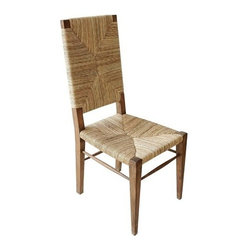 NOIR - NOIR Furniture - neva chair teak - GCHA198T - Enticing texture warms the Noir Neva chair with natural style. Rich in seagrass, the chic wood seat delivers the modern table organic allure.