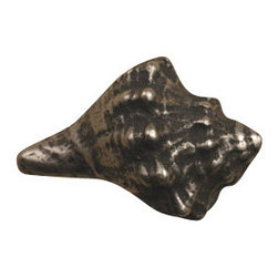 Anne at Home Hardware - Conch Shell  Knob, Antique Bronze - Made in the USA - Anne at Home customized cabinet hardware enables even the most discriminating homeowner to achieve the look of their dreams.  Because Anne at Home cabinet hardware is designed to meet your preferences, it may take up to 3-4 weeks to arrive at your door. But don't let that stop you - having customized Anne at Home cabinet knobs and pulls are well worth the wait!   - Available in many finishes.