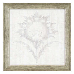Paragon - Weathered Damask II - Framed Art - Each product is custom made upon order so there might be small variations from the picture displayed. No two pieces are exactly alike.