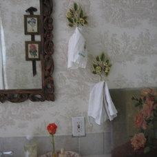 Eclectic Bathroom by M.A.D. Megan Arquette Design