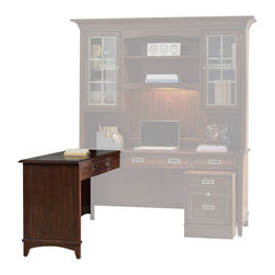 "Hooker Furniture - Latitude Left/Right Return - White glove, in-home delivery!  For this item, additional shipping fee will apply.  Furniture assembly included!  The luxurious Latitude collection is crafted using hardwood solids and walnut veneers.  Center drawer with drop-front for keyboard use.  Can be used on left or right side of Latitude 66"" Desk.  Return only. Desk sold separately.  Keyboard space: 26"" w x 13 1/8"" d x 2 3/4"" h  Knee space: 24 3/8"" h"