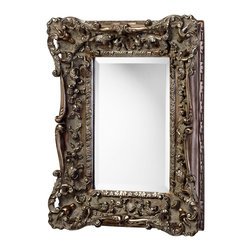 Kathy Kuo Home - French European Ornate Carved Gilt Heritage Gold Leaf Wall Mirror - Hung in a portrait or landscape orientation, this traditional antique style mirror delivers an ornate yet functional view on any room.  Richly detailed and hand finished in an  heritage gold leaf, this piece will be right at home in any traditional home.