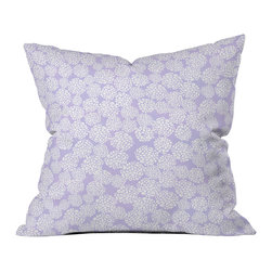 Joy Laforme Dahlias In Periwinkle Outdoor Throw Pillow - Do you hear that noise? it's your outdoor area begging for a facelift and what better way to turn up the chic than with our outdoor throw pillow collection? Made from water and mildew proof woven polyester, our indoor/outdoor throw pillow is the perfect way to add some vibrance and character to your boring outdoor furniture while giving the rain a run for its money.