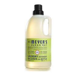 Lemon Verbena Laundry Detergent - Mrs. Meyer's Clean Day Lemon Verbena Laundry Detergent liquid is one of our hardest working cleaners. Concentrated, safe and gentle on clothes - yet it really packs a punch when it comes to removing dirt and grime. Contains Anionic Surfactants from plant-derived sources, Borax, dirt and stain-fighting enzymes, and, of course, those important natural essential oils for a garden-fresh fragrance. Earth-friendly, HE compatible, & concentrated for 64 loads.