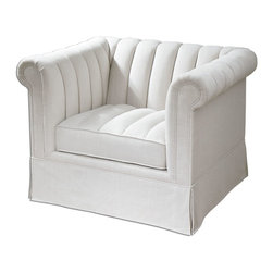 Uttermost - Creamy White Linen Evania Linen Chair - Creamy White Linen Evania Linen Chair