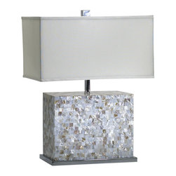 Cyan Design - Shell Tile Lamp - Shell tile lamp - white and polished chrome