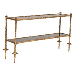 Gold Chiseled Console Table Black - http://www.highfashionhome.com/gold-chiseled-console-table-black.html