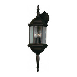 Kenroy - Kenroy-16267GBRZ-Custom Fit - Three Light Wall Lantern - With 5 different potential looks, Custom Fit will let your creative light shine. Available in Black, Rust or White finishes, you can combine the finials, tails and glass into multiple configurations to find the one that will be just right for your outdoor space.