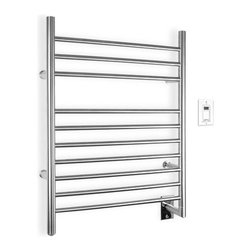 """WarmlyYours - Infinity Wall Mount Electric Towel Warmer - The Infinity Towel Warmer by WarmlyYours is truly an upscale design for todays modern bathroom. Imagine your homes master or guest bathroom with this beautiful and functional bathroom accessory, creating that tranquil and relaxing spa atmosphere that you have always dreamed about. The Infinity has a graceful profile with a beautiful. You will love stepping out of the shower and wrapping yourself in a warm dry towel to start your day. The Infinity hardwired model is an ideal addition to your bathroom during new construction or as part of a bathroom remodel. Features: -Towel warmer. -Superior quality metals for durability and long lasting beauty, Zen-like design. -Enjoy this creature comfort everyday. -Warm, dry towel doesnt have to be a luxury anymore. -Truly upscale, and perfect for creating a tranquil spa environment right in your home bathroom. -With 10 sleek bars to hang towels or a bathrobe. -Wall mount unit installs easily and houses a hidden on / off switch at the base of the model. -Comes with installation hardware. -Dimensions: 32"""" H x 23 5/8"""" W x 4 3/4"""" D."""