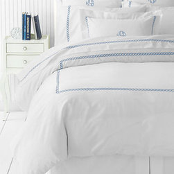 Tailored Hotel Embroidered Rope Duvet Cover - These are perfect. They remind me of waking up at the beach, seeing the ocean from my bed and smelling the sea air.