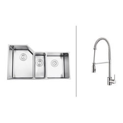 Ruvati - Ruvati RVC2586 Stainless Steel Kitchen Sink and Chrome Faucet Set - Ruvati sink and faucet combos are designed with you in mind. We have packaged one of our premium 16 gauge stainless steel sinks with one of our luxury faucets to give you the perfect combination of form and function.